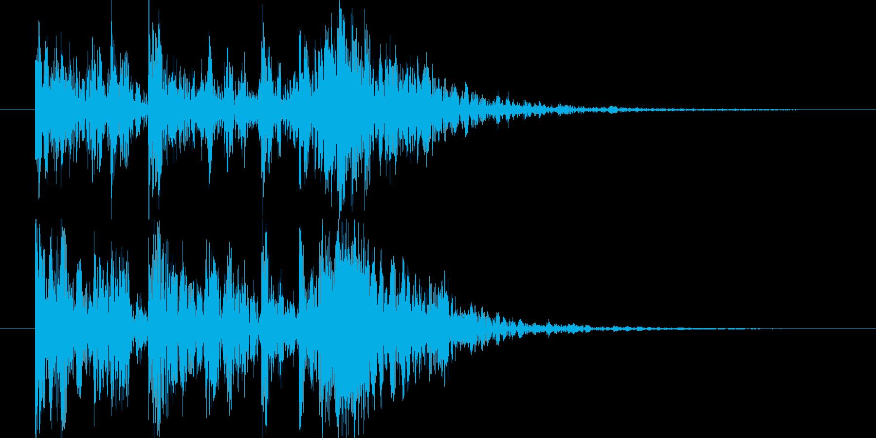 短い和風の効果音 2の再生済みの波形