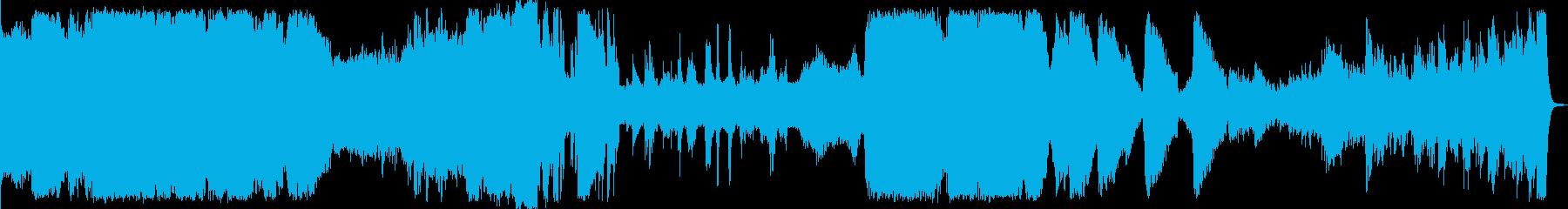 映画のサウンドトラック(SF、ホラー)の再生済みの波形
