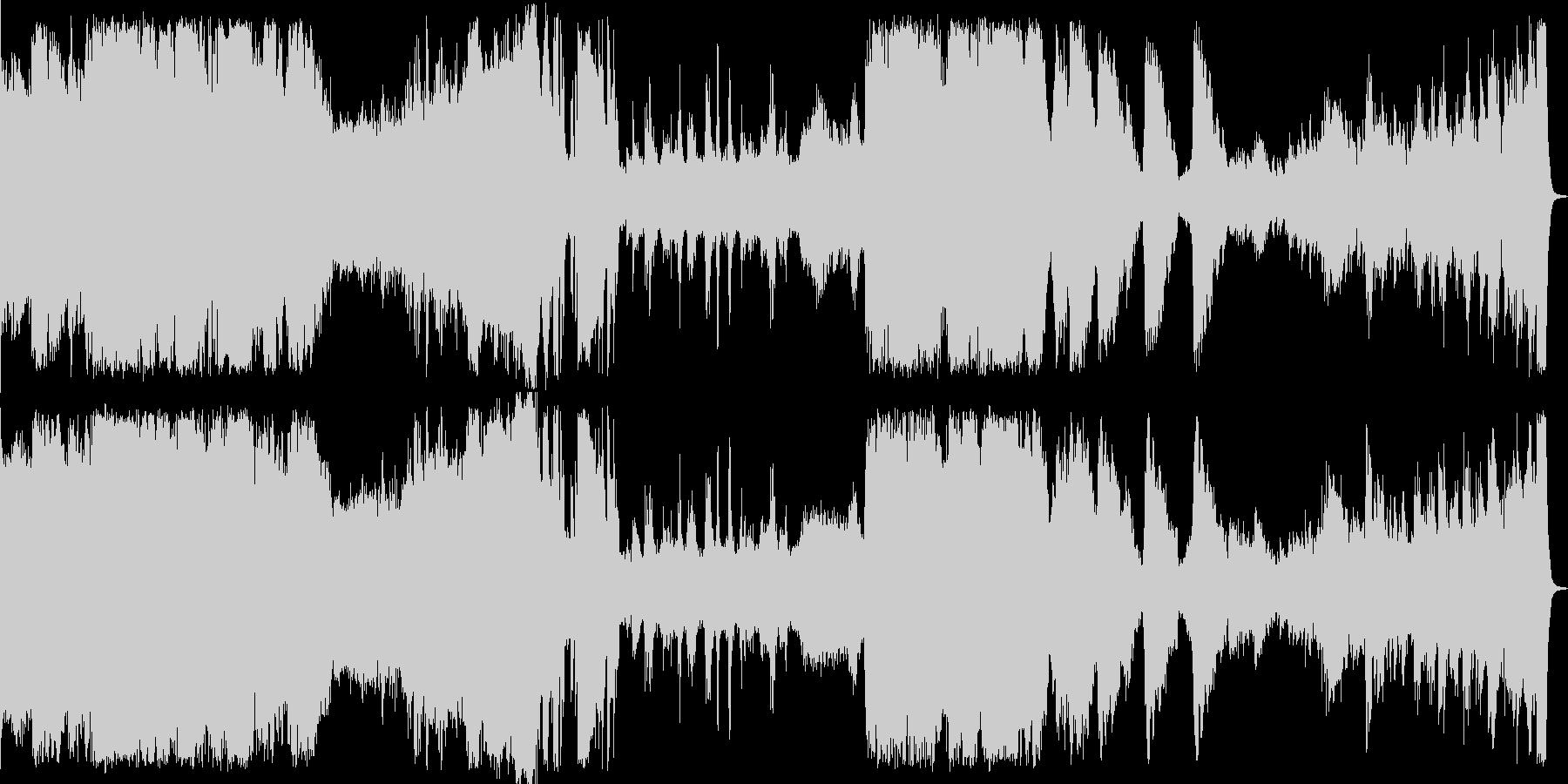 映画のサウンドトラック(SF、ホラー)の未再生の波形
