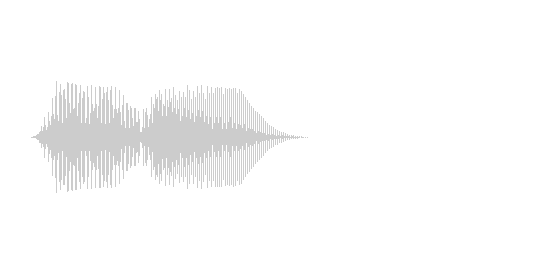 ファミコン風効果音 キャンセル系 19の未再生の波形