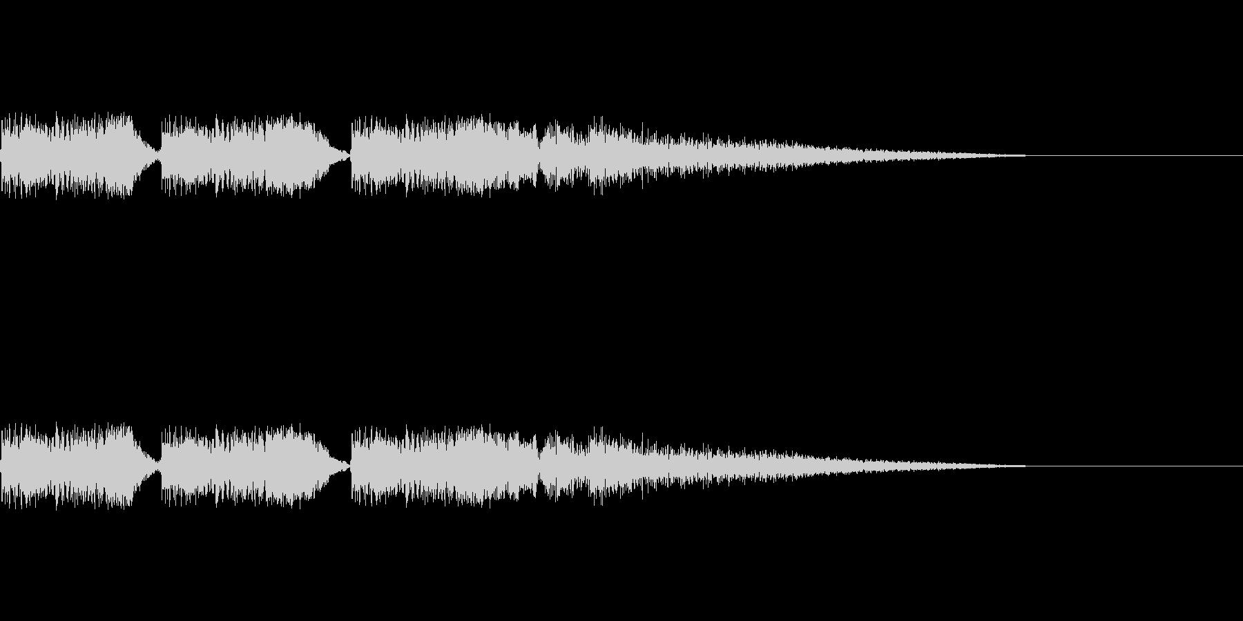 バキュンバキュンバキューン(銃を撃つ音)の未再生の波形