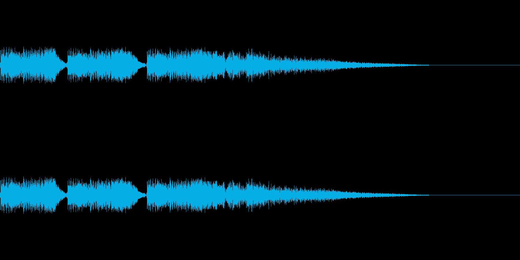 バキュンバキュンバキューン(銃を撃つ音)の再生済みの波形