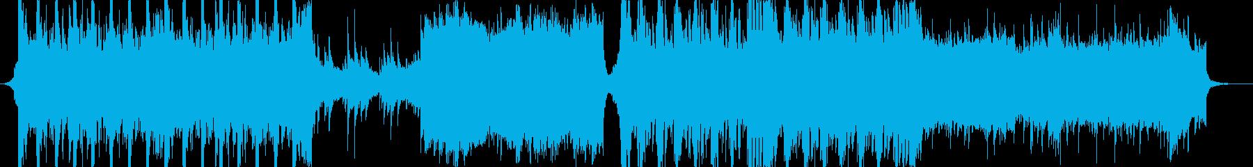 ストーリー性のあるバトルBGMの再生済みの波形
