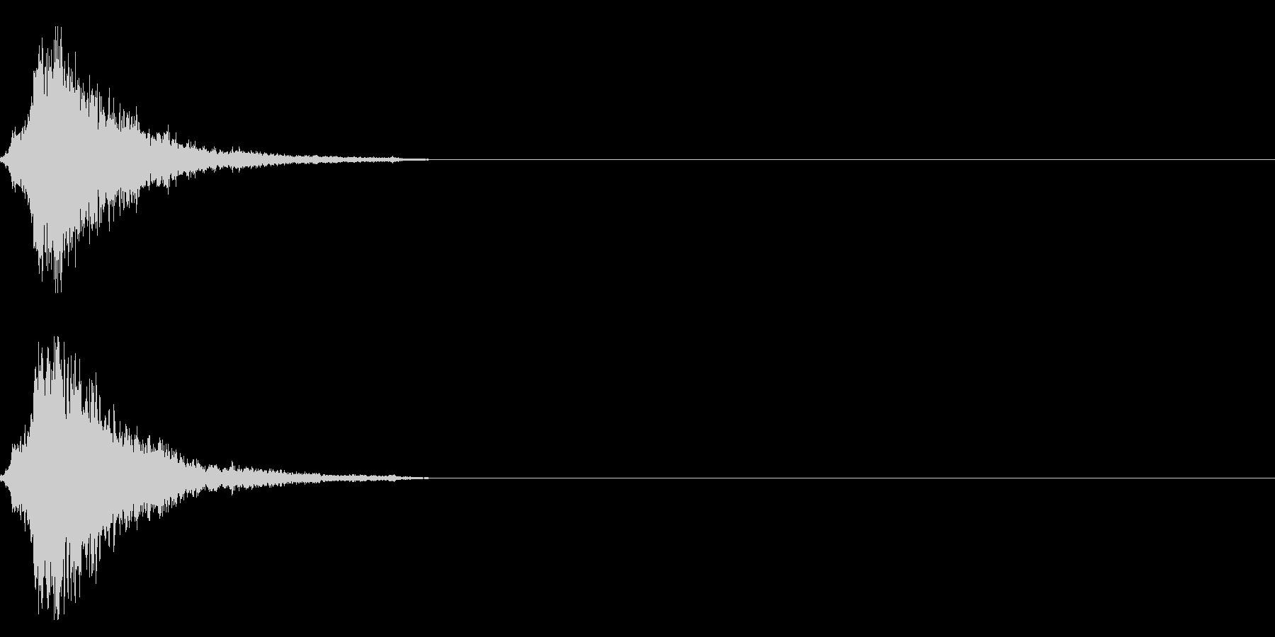 シャラン・・神楽鈴の効果音の未再生の波形