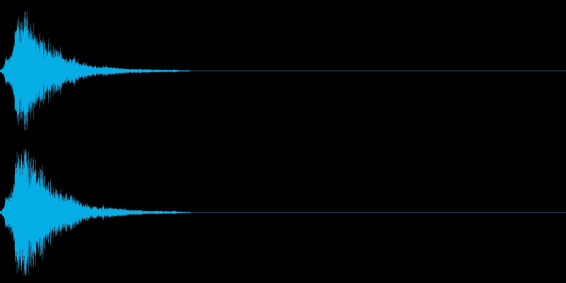 シャラン・・神楽鈴の効果音の再生済みの波形
