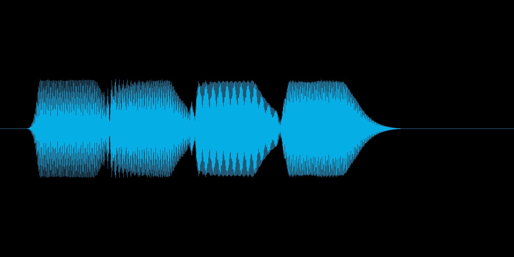ファミコン風効果音決定音系です 20の再生済みの波形