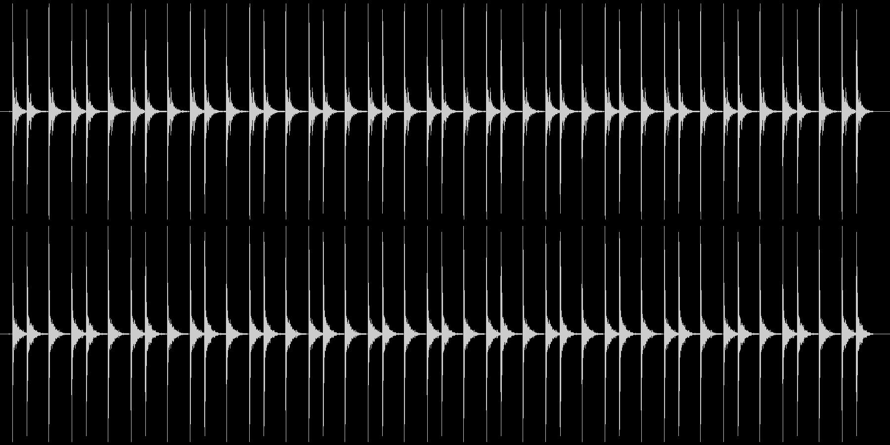 震える慌てる 長め カタカタカタ…の未再生の波形