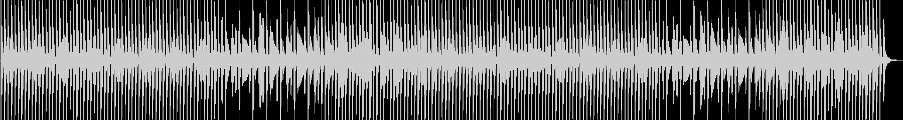 ポップでコミカルな印象の音源の未再生の波形