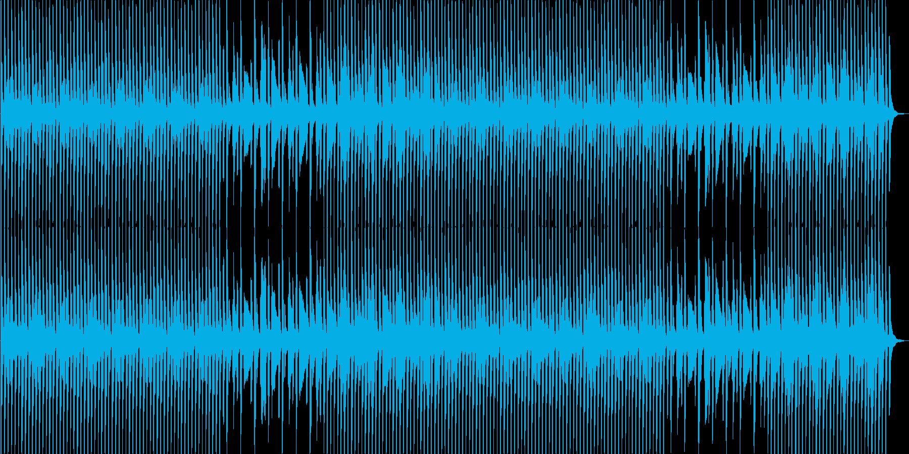 ポップでコミカルな印象の音源の再生済みの波形