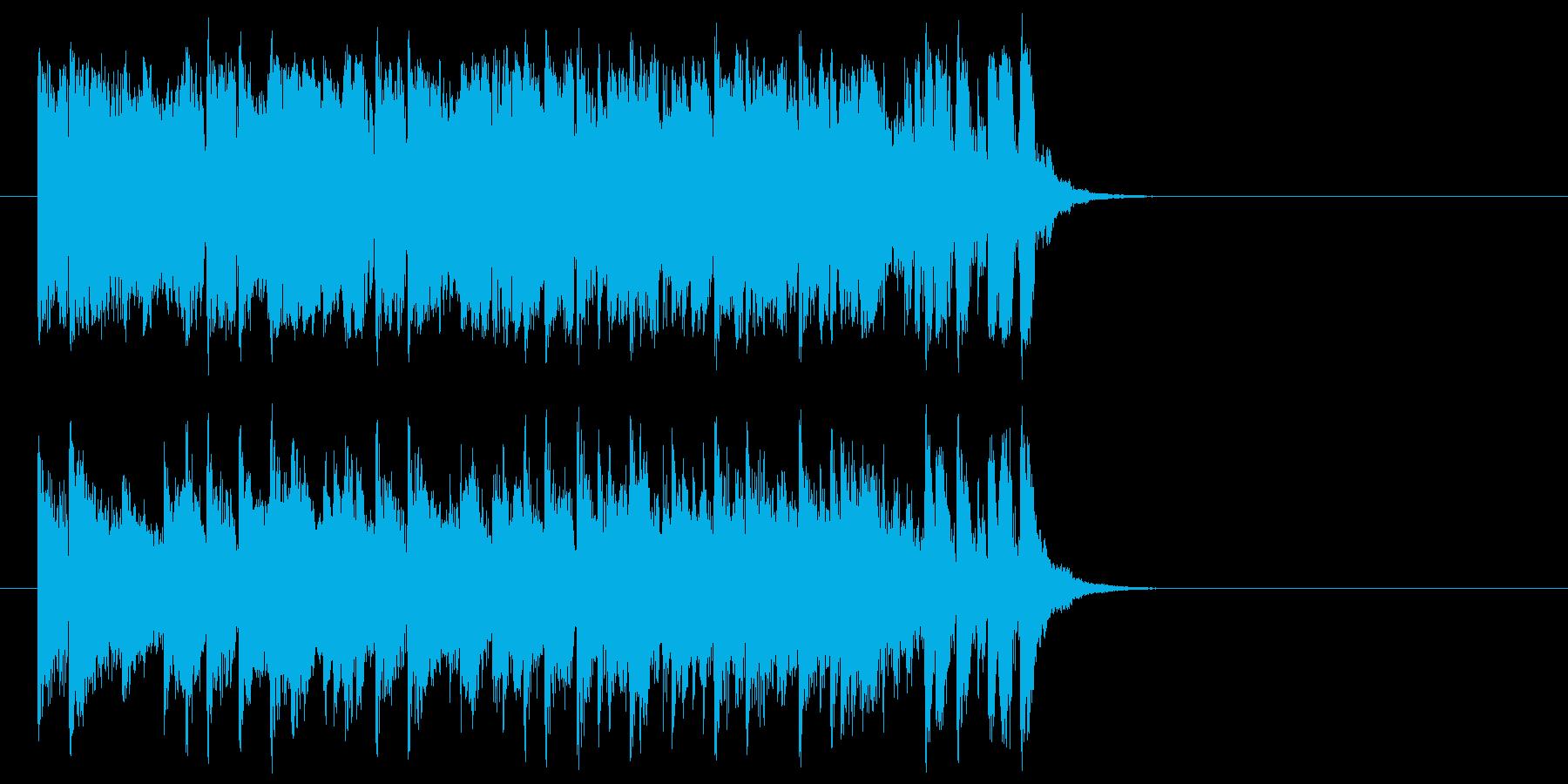 推進力ある元気なポップ(イントロ)の再生済みの波形