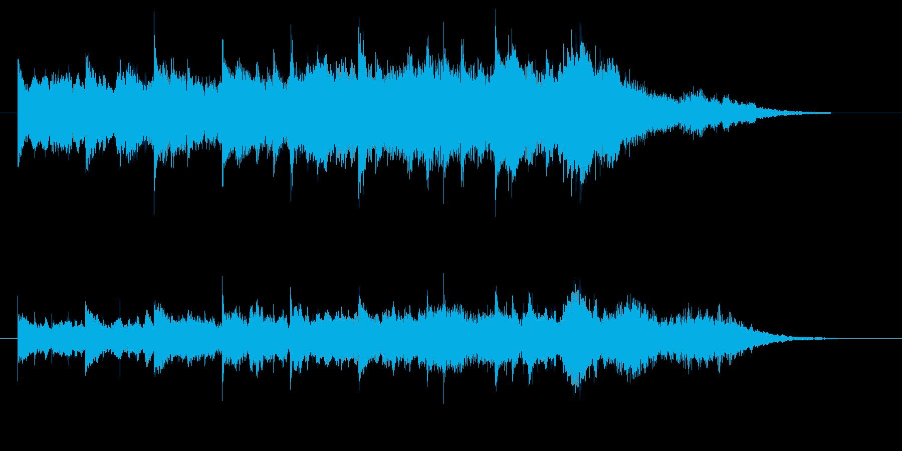 鉄道発車メロディ風ジングルの再生済みの波形