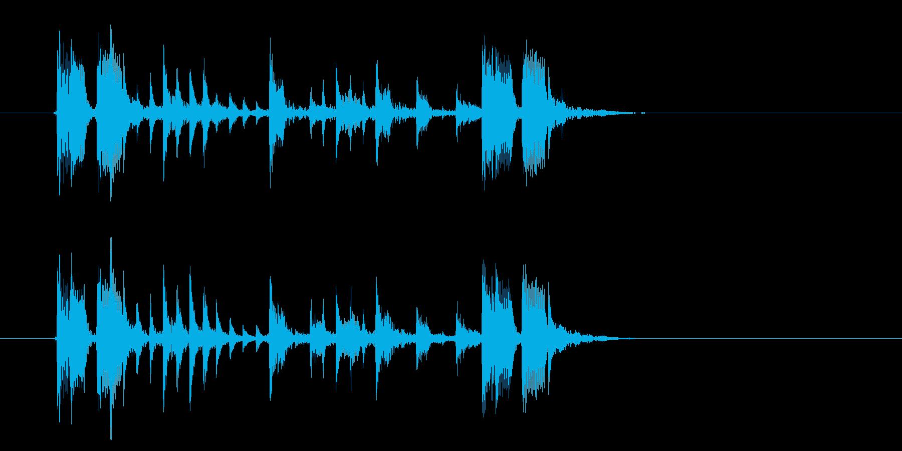 機械的なテクノポップの再生済みの波形