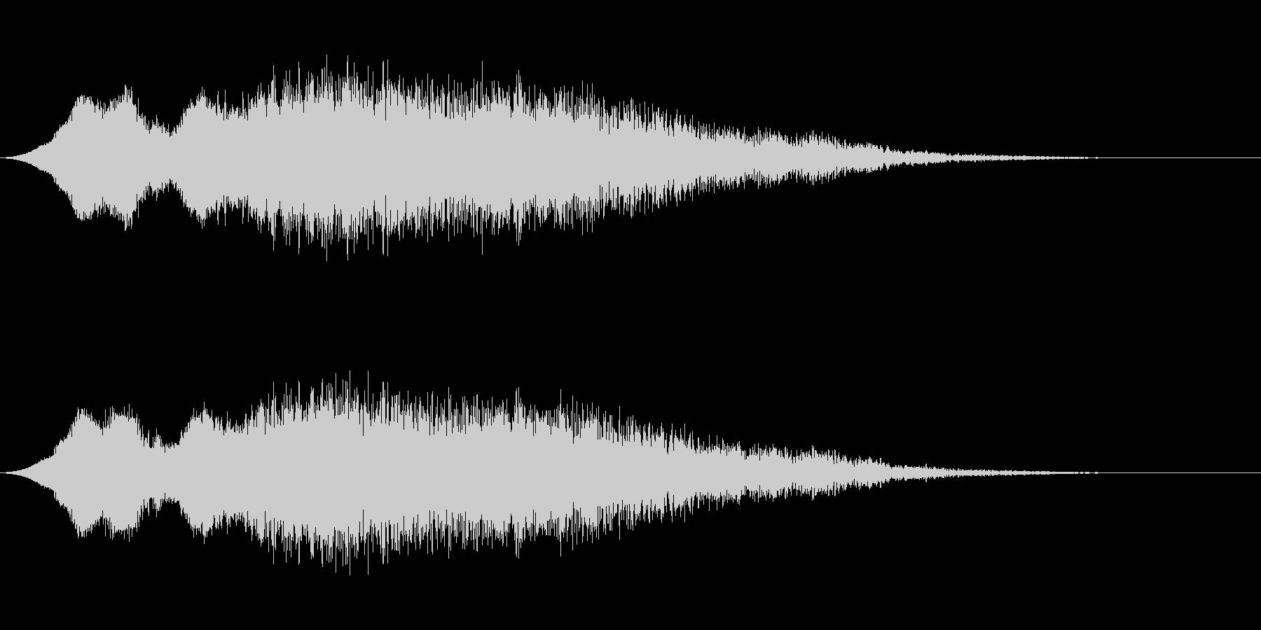 ゆるい落下(電子音)の未再生の波形