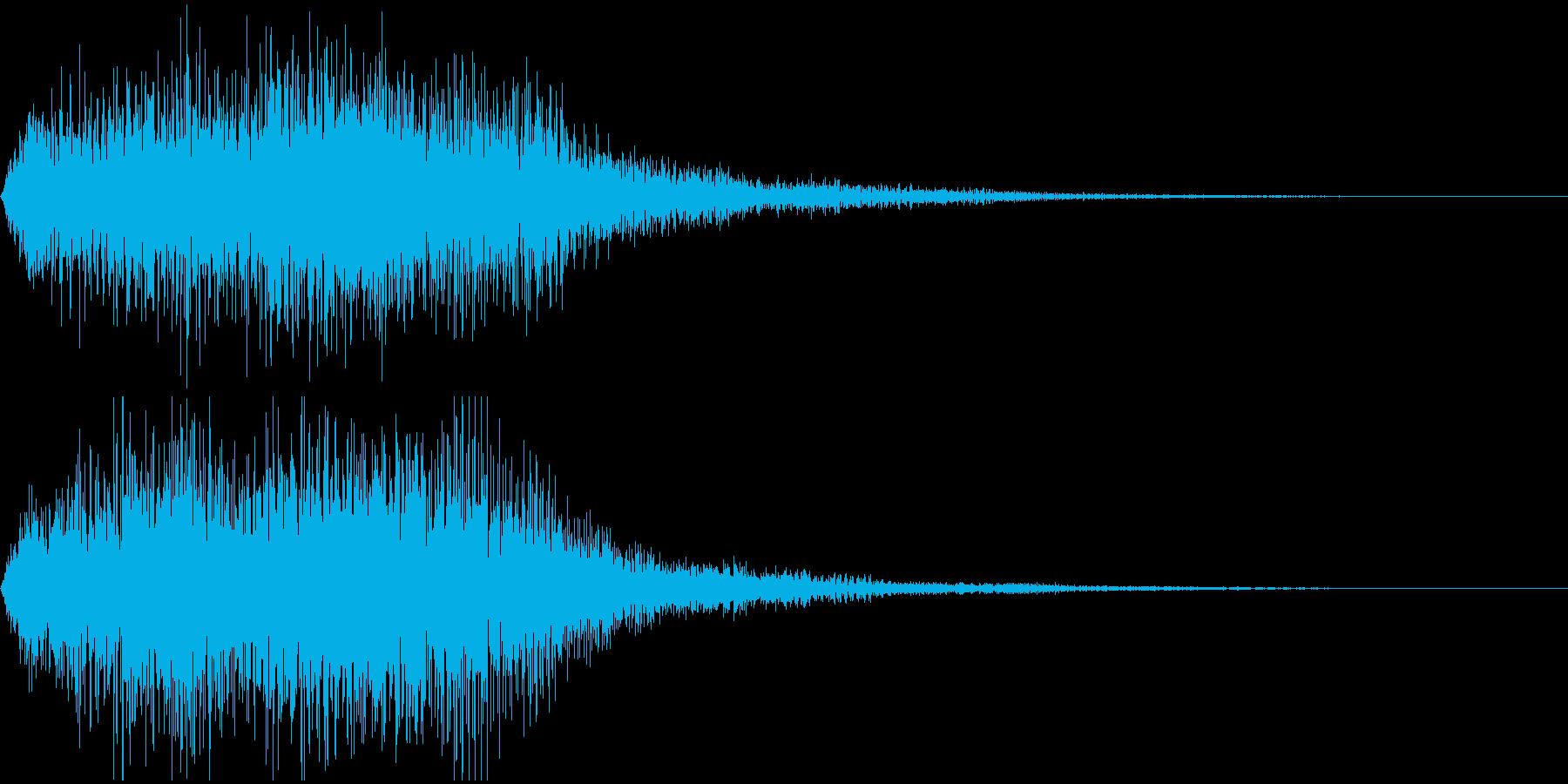 ミッションクリア、レベルアップのジングルの再生済みの波形