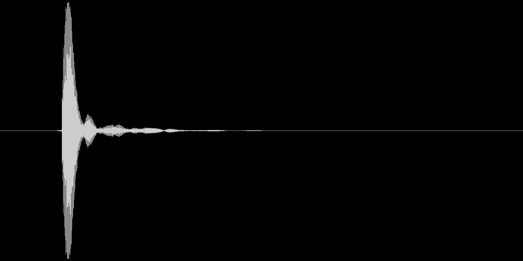 コッ(カウベル、クリック、タッチ)の未再生の波形