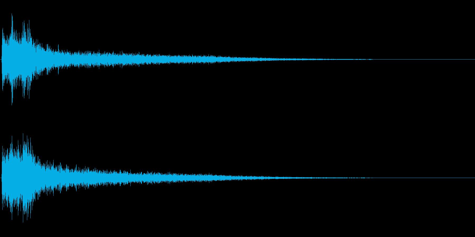 サスペンスに最適!ピアノの弦を弄ぶ音37の再生済みの波形