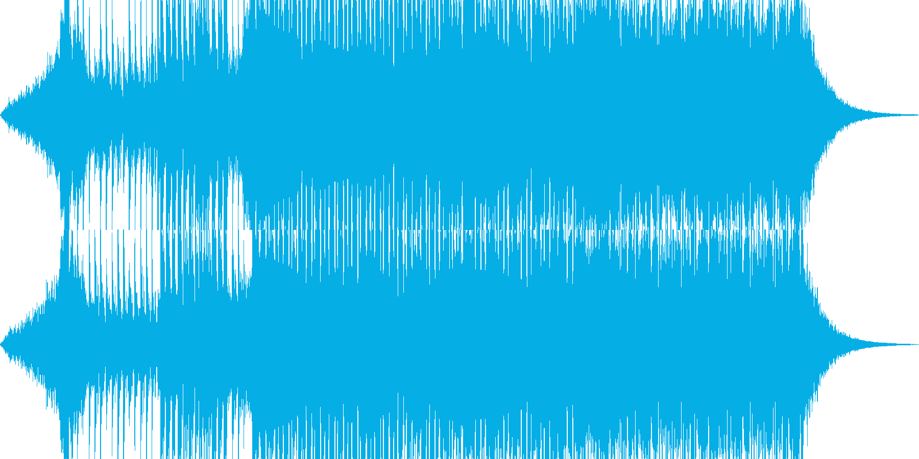 EDM風・90テクノBGM_BGM005の再生済みの波形