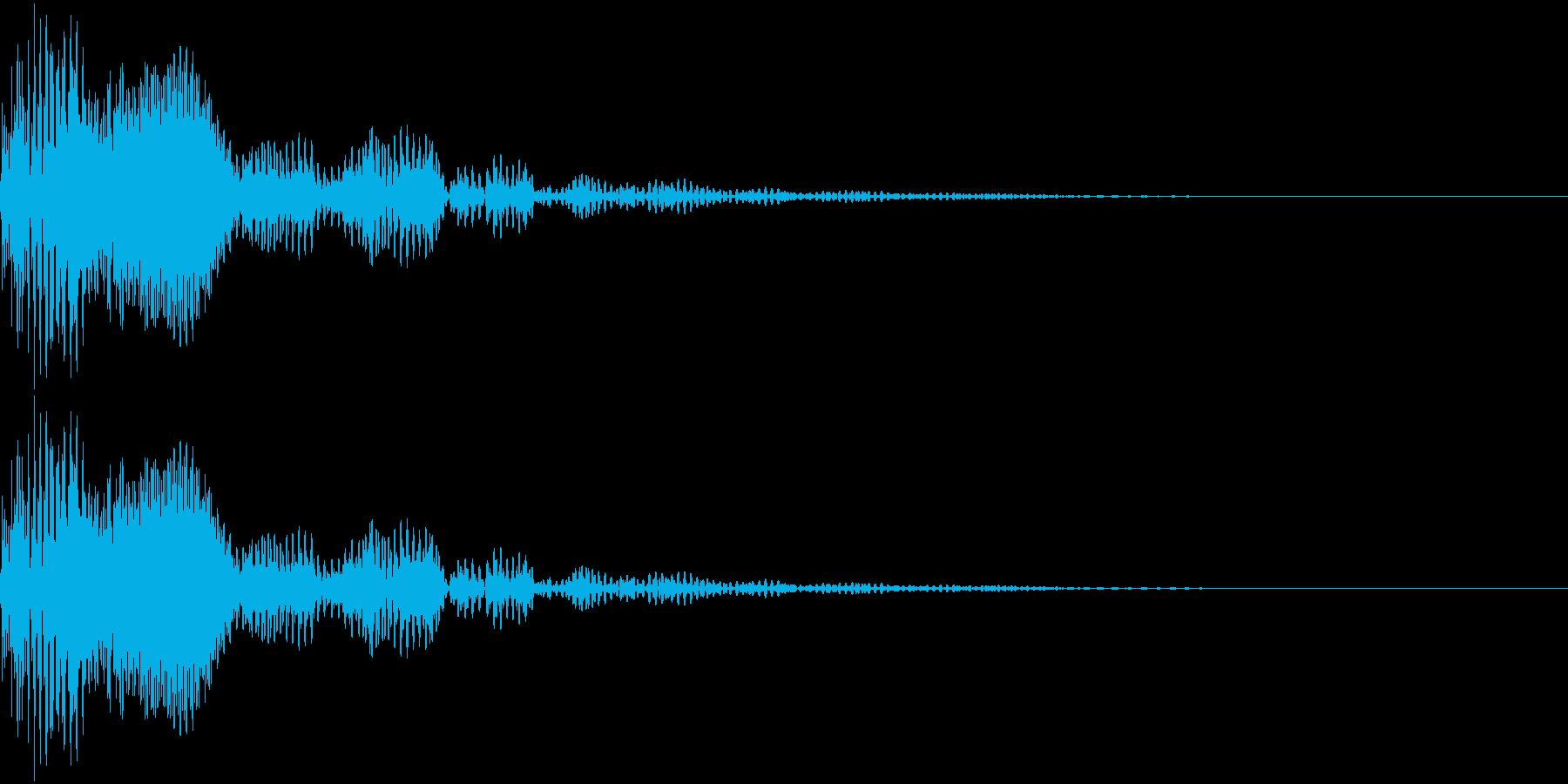 ポン_小鼓Aの再生済みの波形
