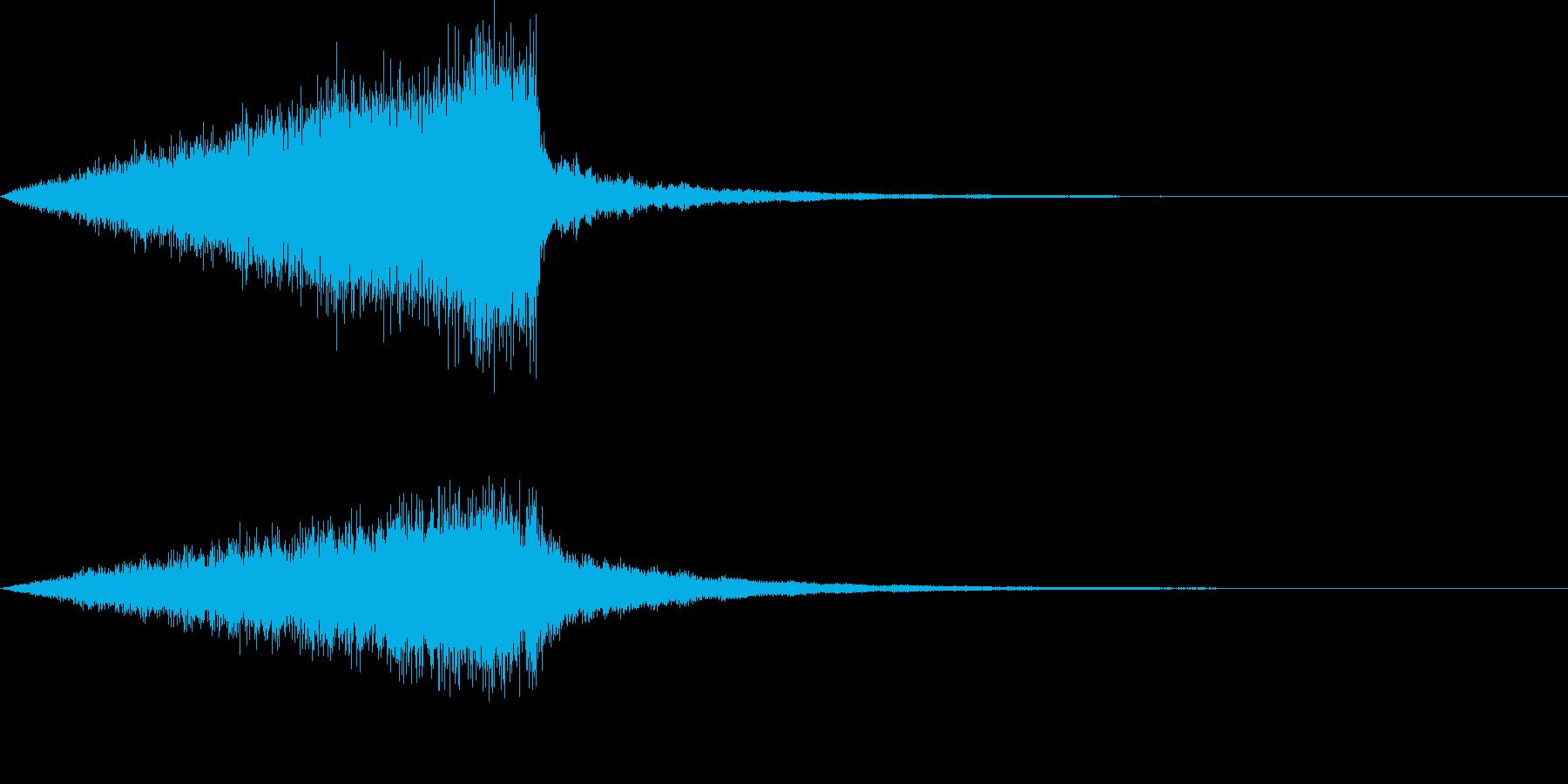 怖い音07の再生済みの波形