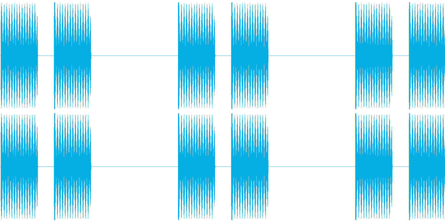 電話 呼び出し トゥルル×6 海外風①の再生済みの波形