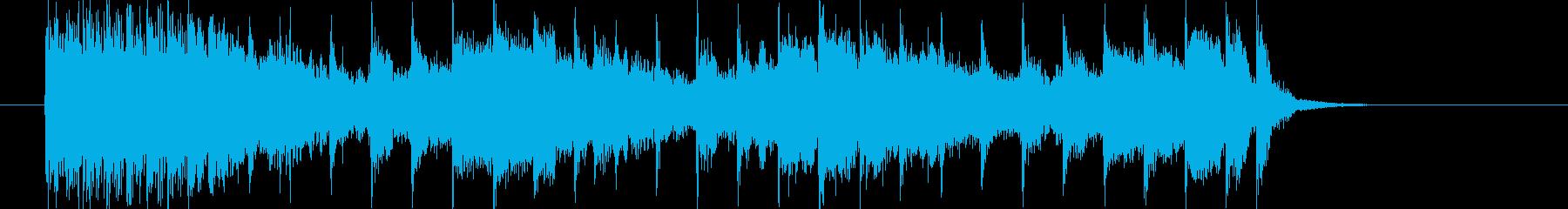 アップテンポなポップスによるジングル曲の再生済みの波形