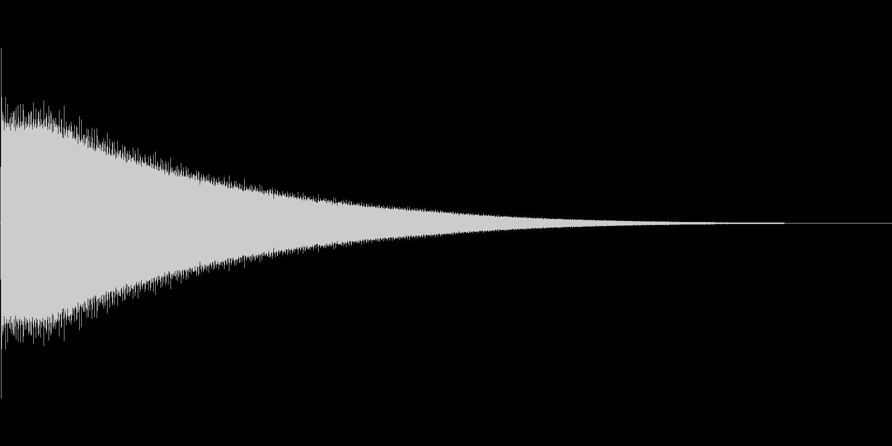 チーン(8bit風)の未再生の波形