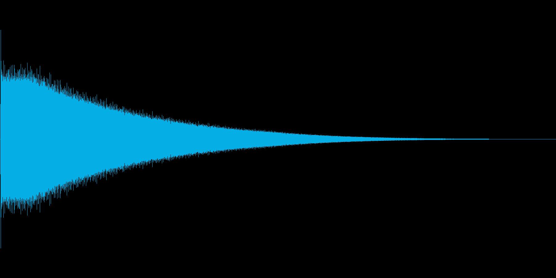 チーン(8bit風)の再生済みの波形