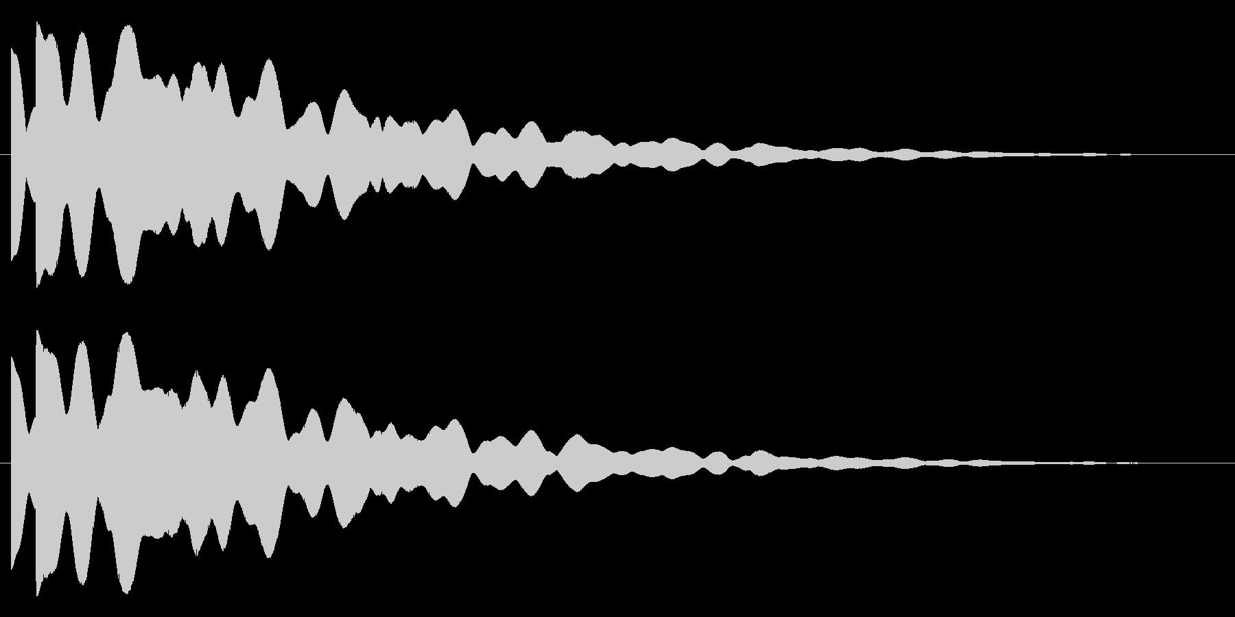 ピポン(響き有)の未再生の波形