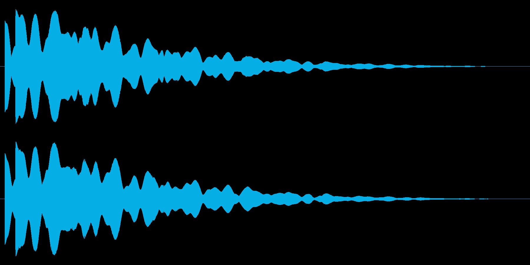 ピポン(響き有)の再生済みの波形
