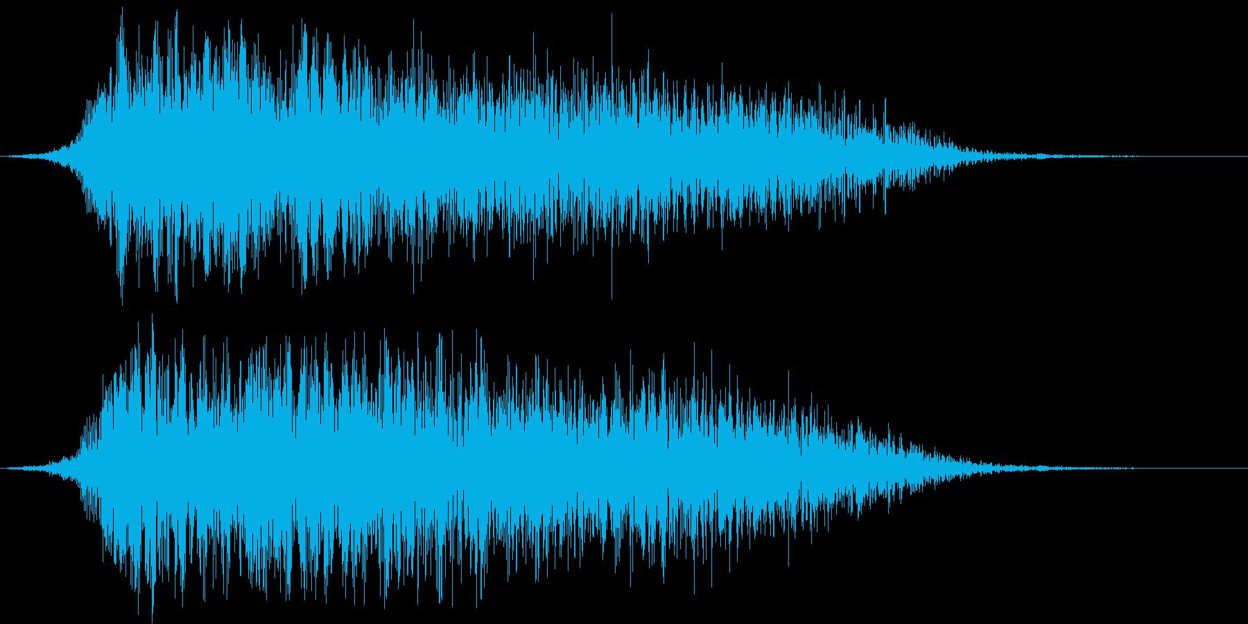 和風掛け声「さー」(男複数)の再生済みの波形
