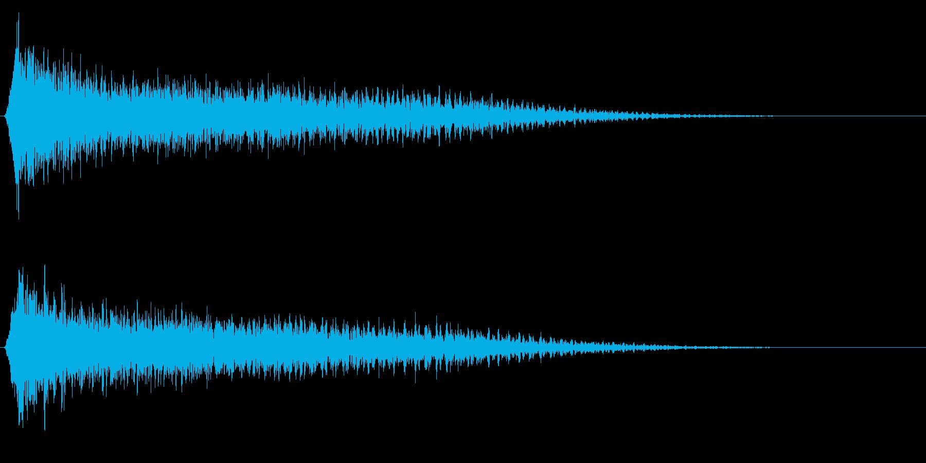 サスペンスに最適!ピアノの弦を弄ぶ音8の再生済みの波形