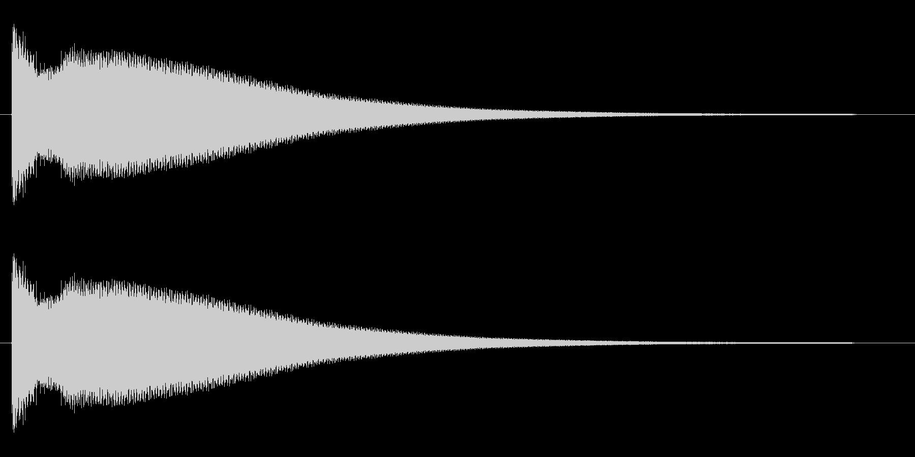 チーン(お葬式の鈴、呼び鈴の効果音)の未再生の波形