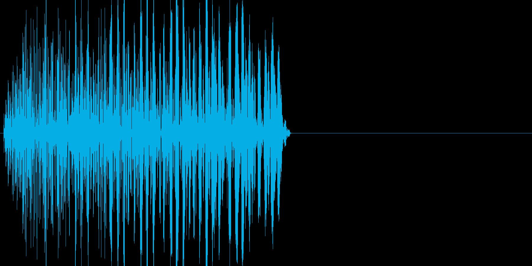 ボタン・カーソル・操作音 「ピッ」の再生済みの波形