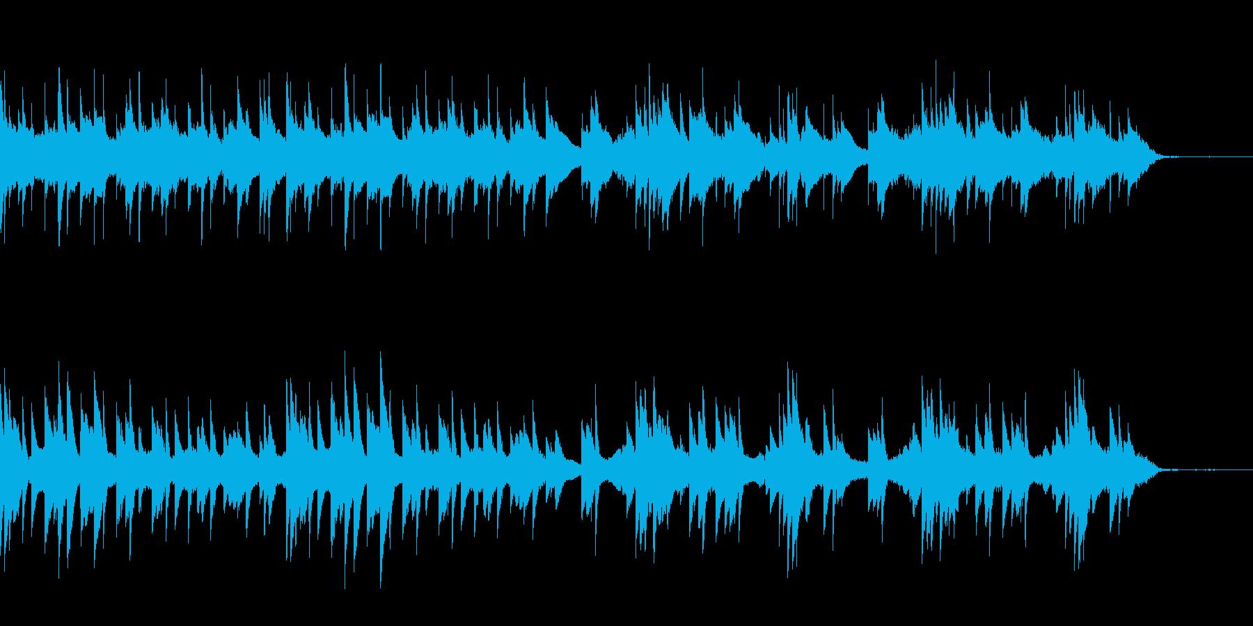 ゲームのスタート画面で流れる曲の再生済みの波形