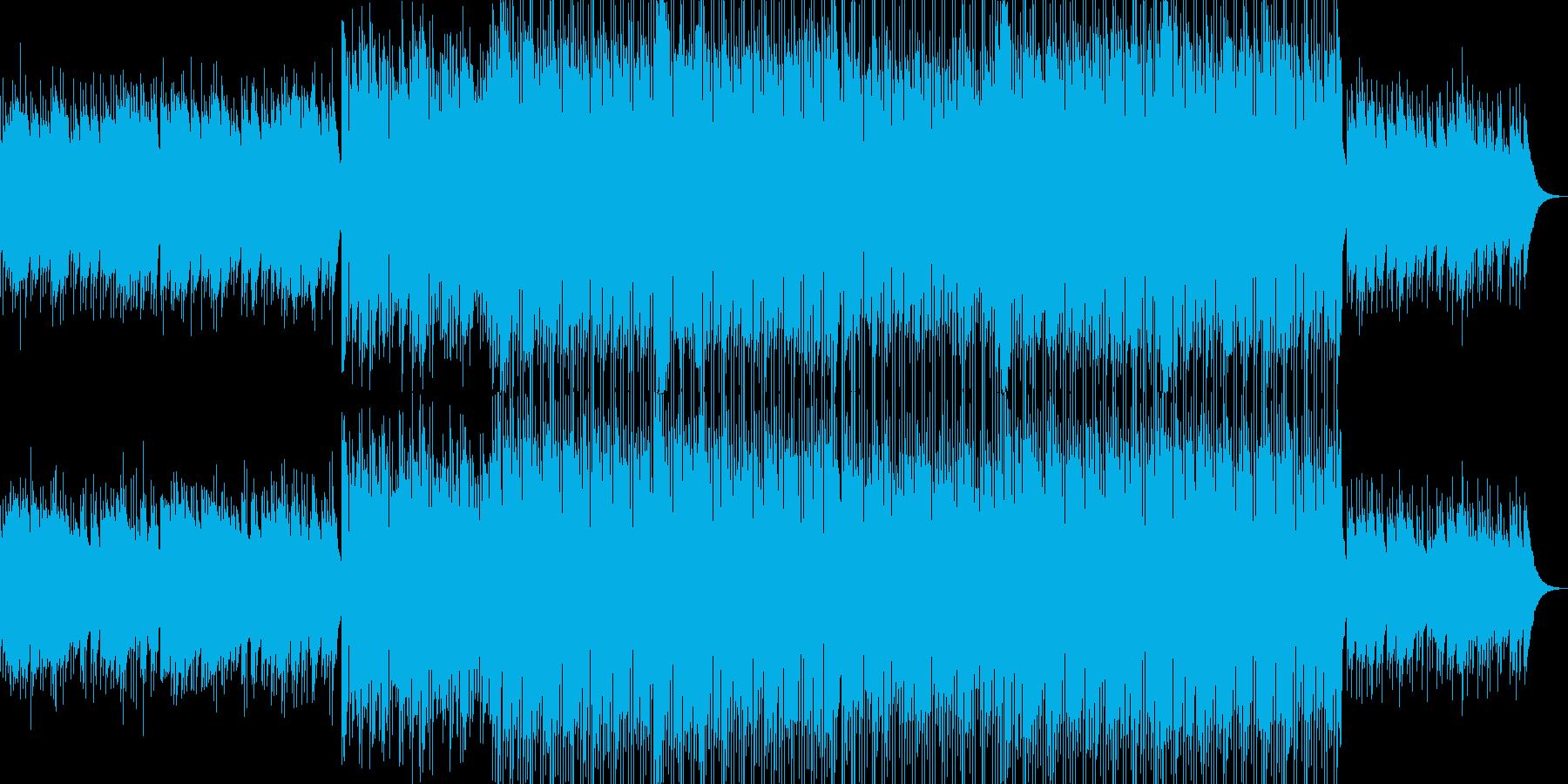ベル系が多いキラキラした落ち着いた曲の再生済みの波形