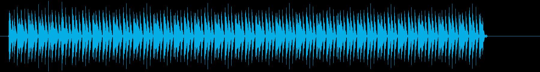 チリチリとピョコピョコの複合音の再生済みの波形
