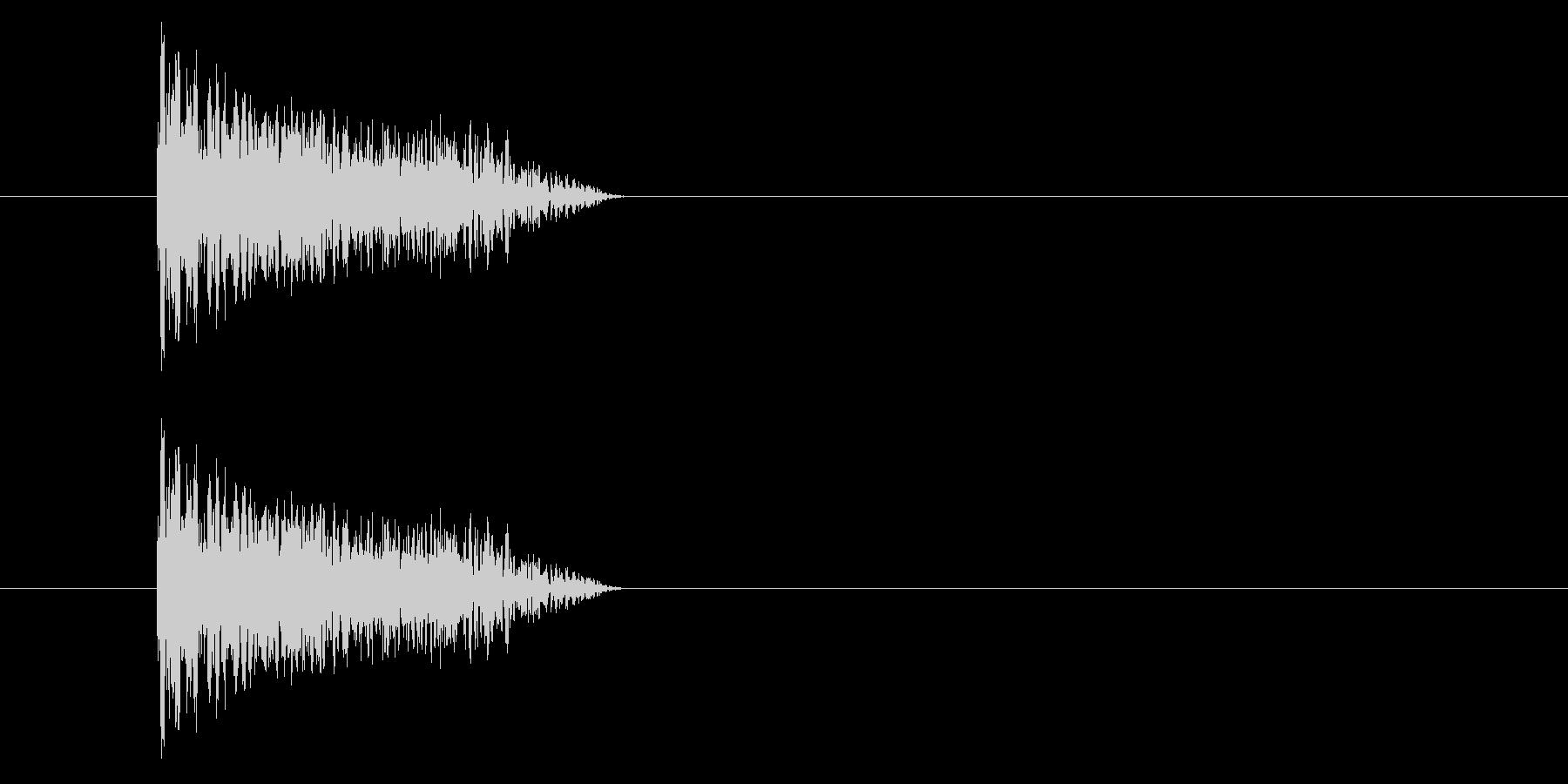 ジャン!懐かしのオケヒその3_音程低めの未再生の波形