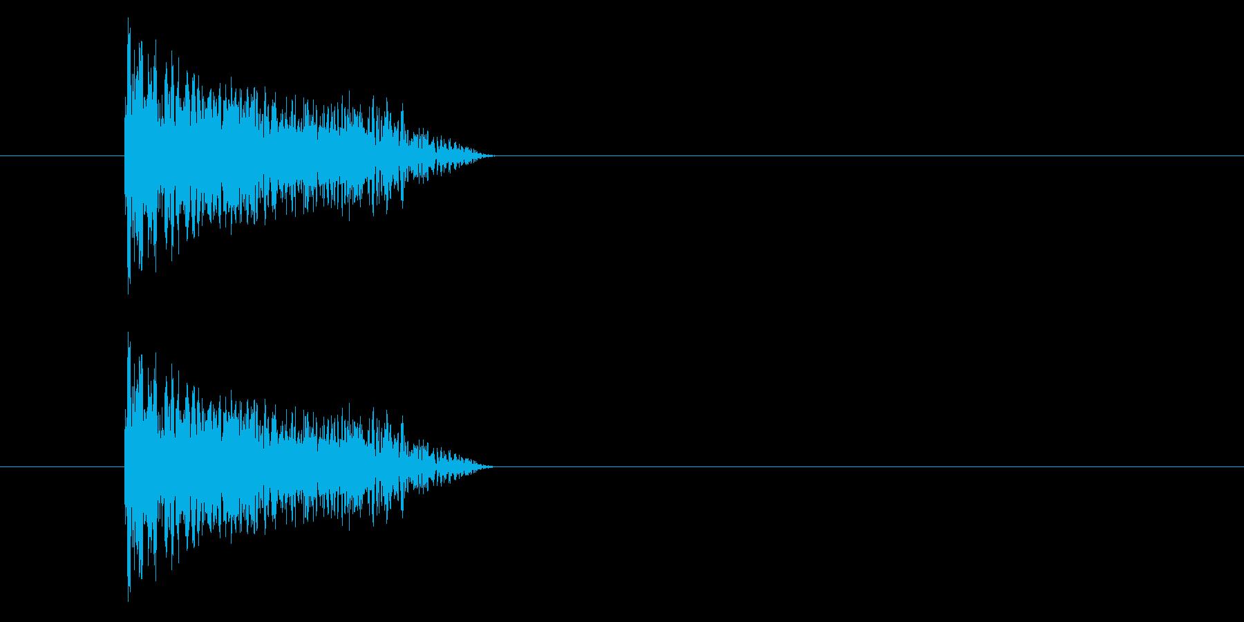 ジャン!懐かしのオケヒその3_音程低めの再生済みの波形