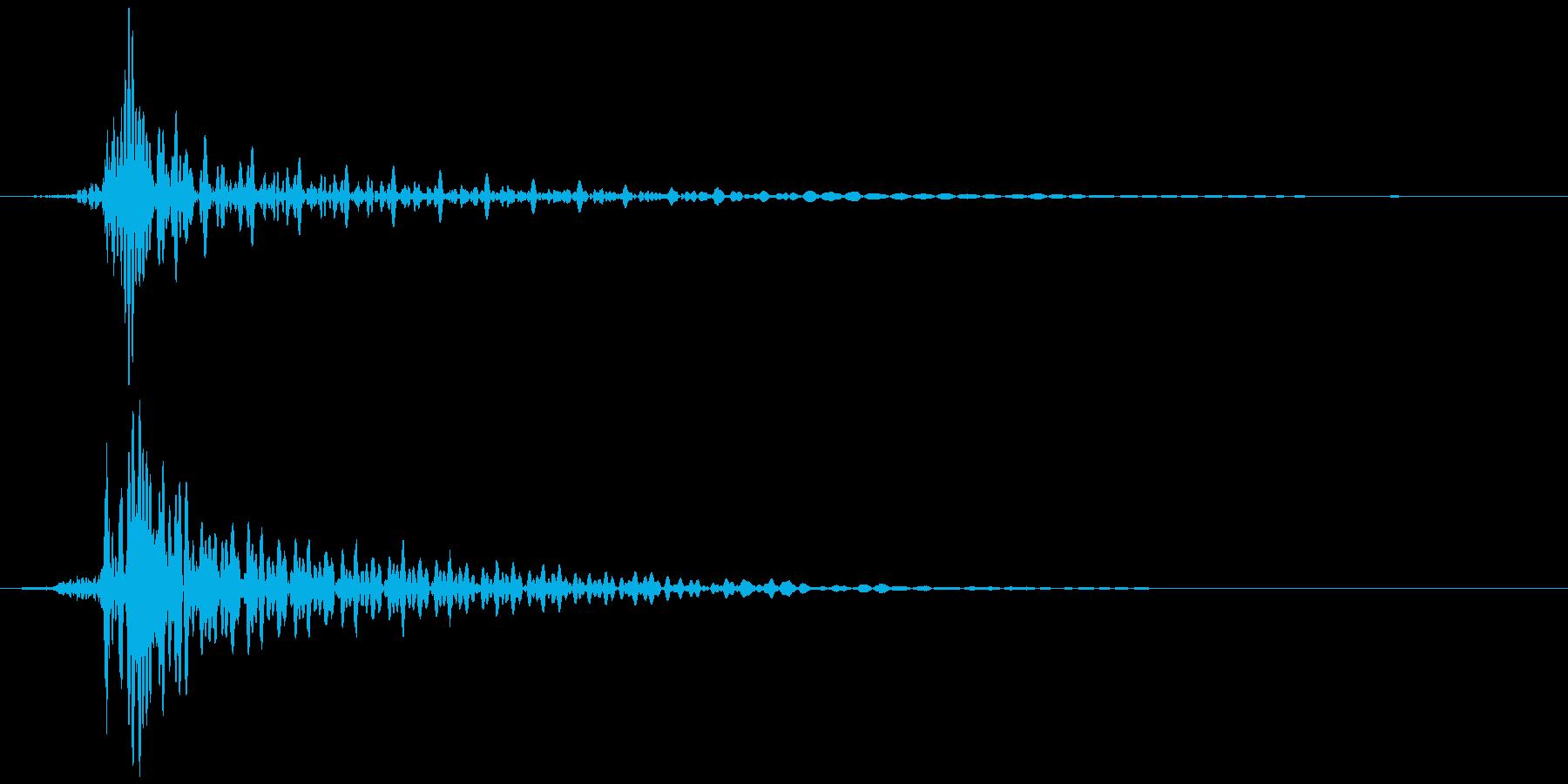 弓矢が刺さる (トッ、ビィィィン) Bの再生済みの波形