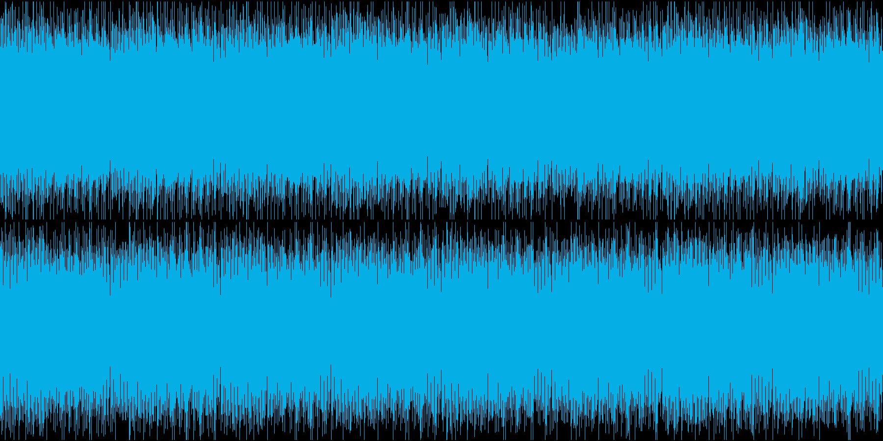 軽快でかわいいエレクトロループの再生済みの波形