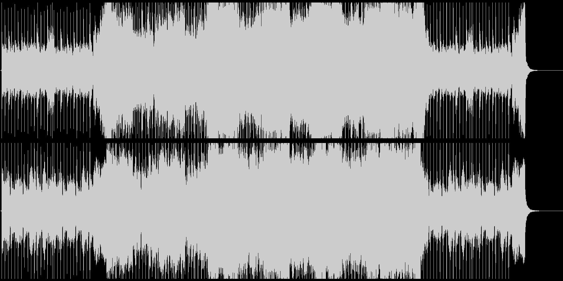 エレビのリフから始まる爽やかなポップスの未再生の波形