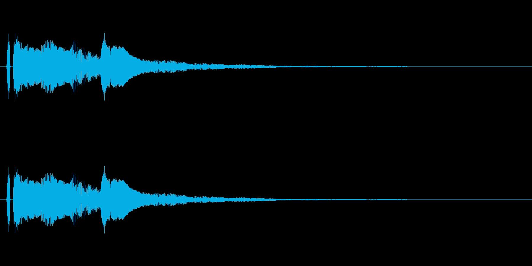 ピアノ。タラララン。上昇。の再生済みの波形
