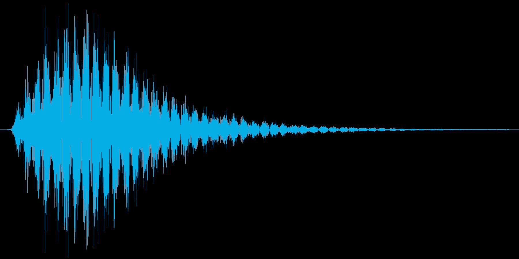 シンセで作ったシュワワ音1の再生済みの波形