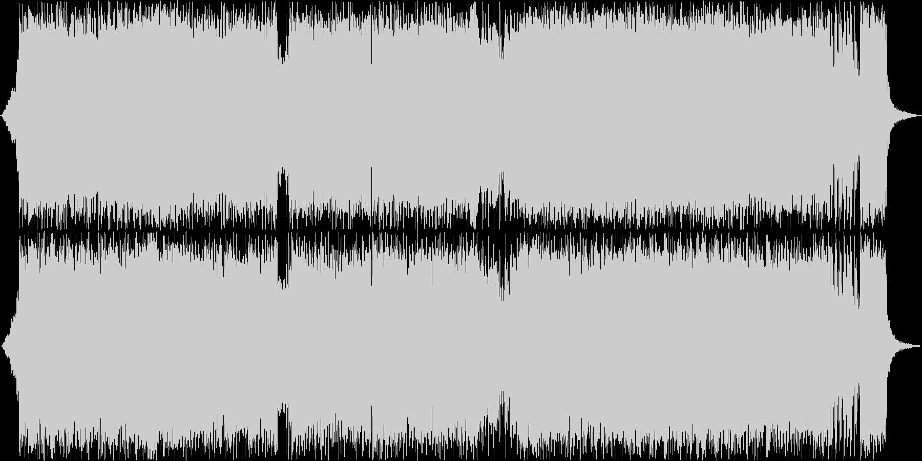 和風で怪しげなハードロックBGMの未再生の波形