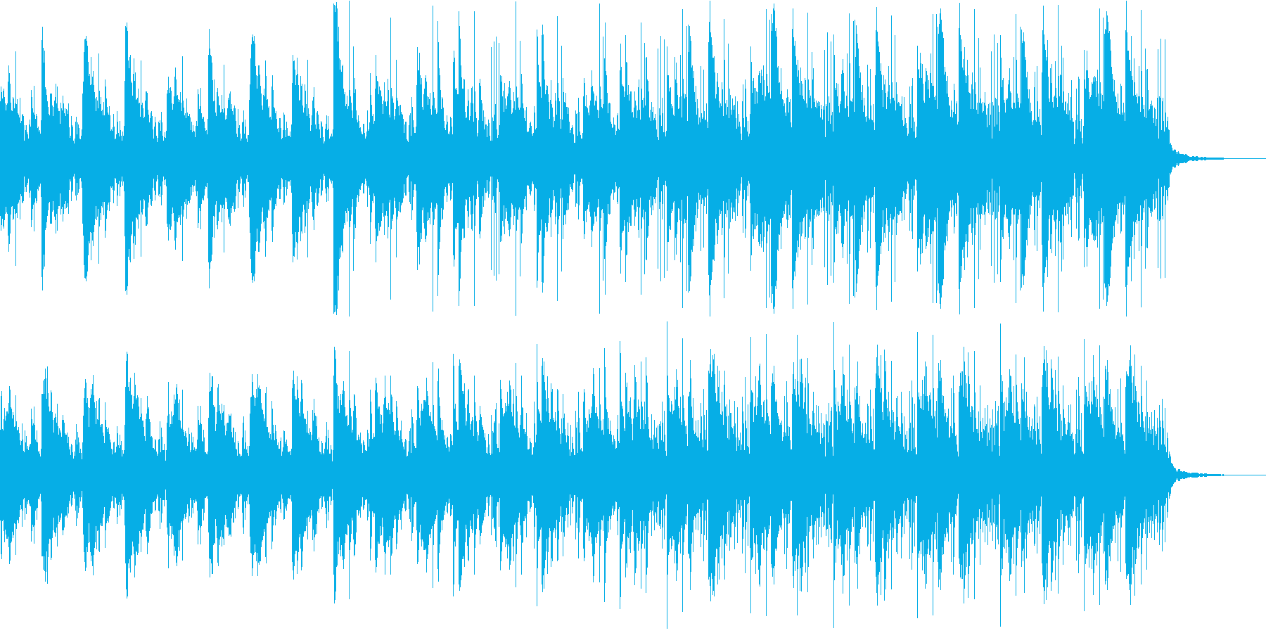 ピアノ ラテン エレクトロ upテンポ の再生済みの波形