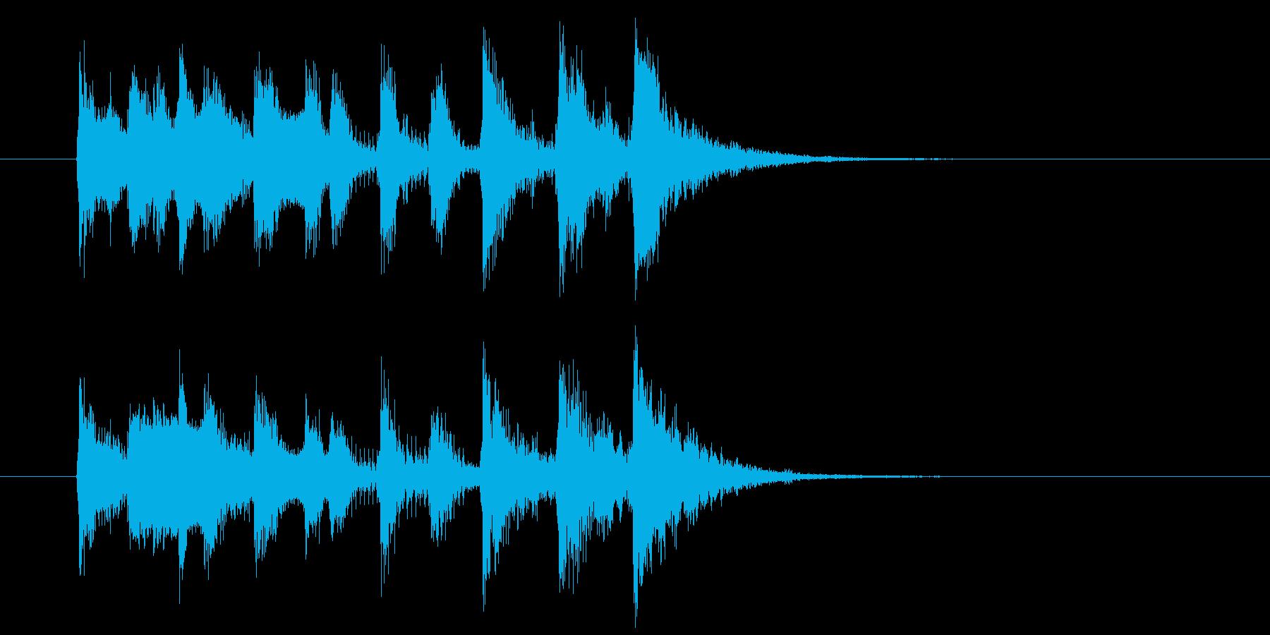 疾走感とドキドキ感のシンセサウンドの再生済みの波形