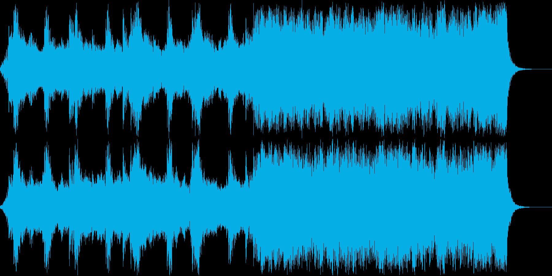 臨む気持ちを表した音楽の再生済みの波形