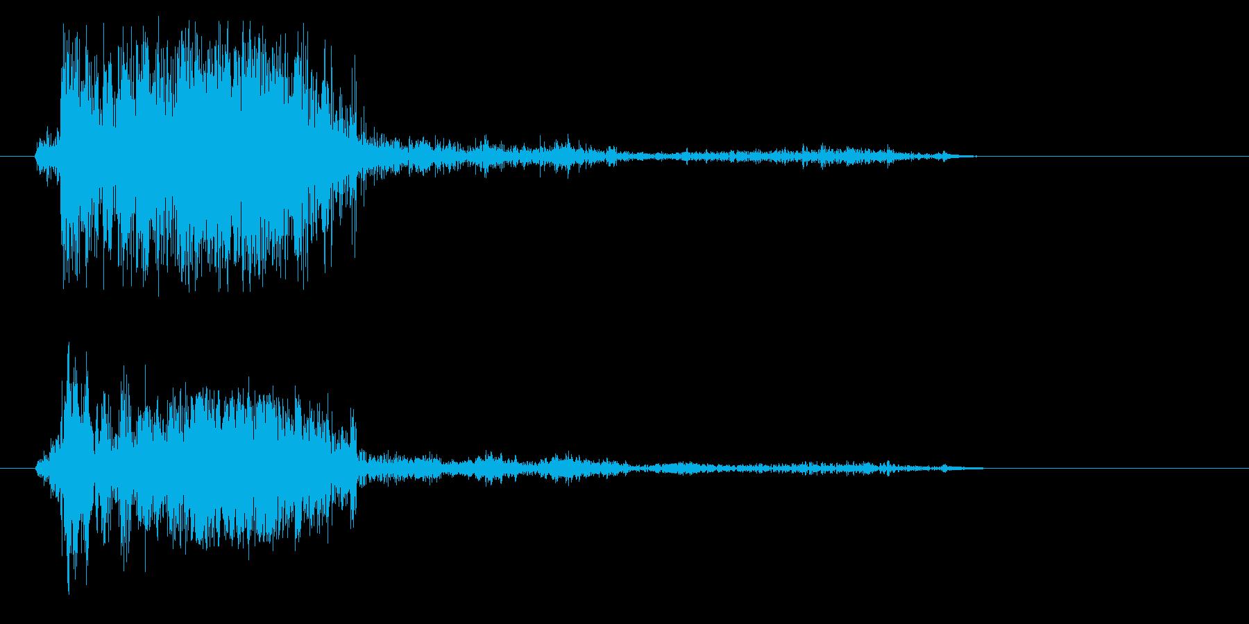 ザクッ(砂を叩く音02)の再生済みの波形