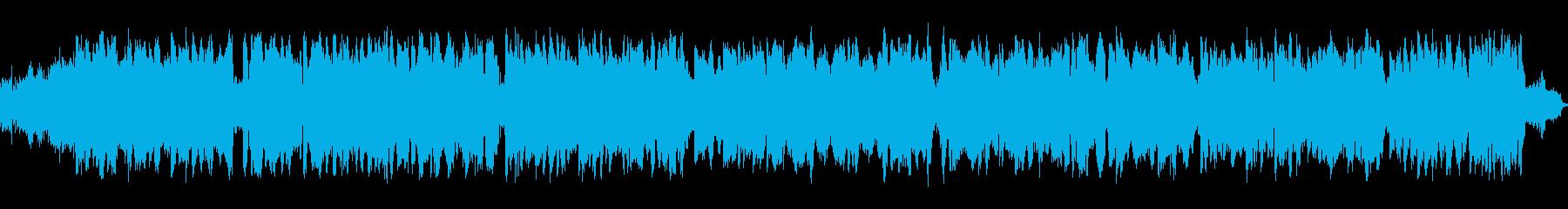 サーカス等の手回しオルガン風楽曲の再生済みの波形