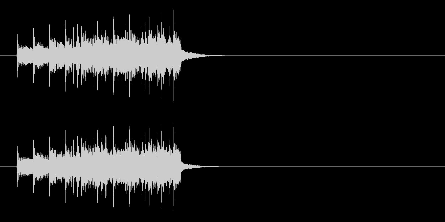ジングル(ファンファーレ)の未再生の波形
